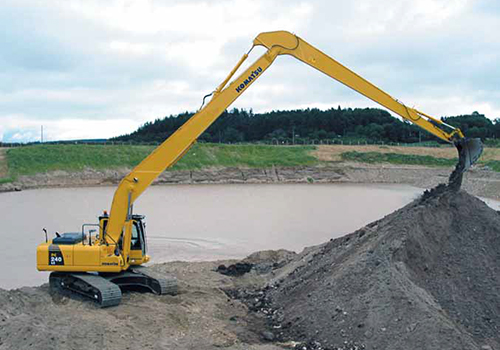 nationwide long reach excavator hire